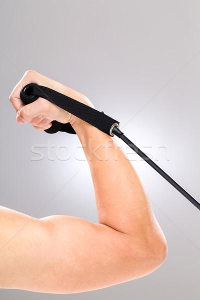 Biceps odporność zespołu sportu tle siłowni Zdjęcia stock © leungchopan
