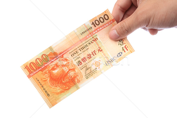 банкнота стороны Гонконг 1000 деньги банка Сток-фото © leungchopan