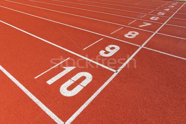 start point on sport field Stock photo © leungchopan
