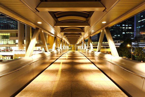 modern flyover at night Stock photo © leungchopan