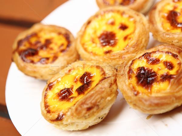 portuguese egg tart in Macao Stock photo © leungchopan