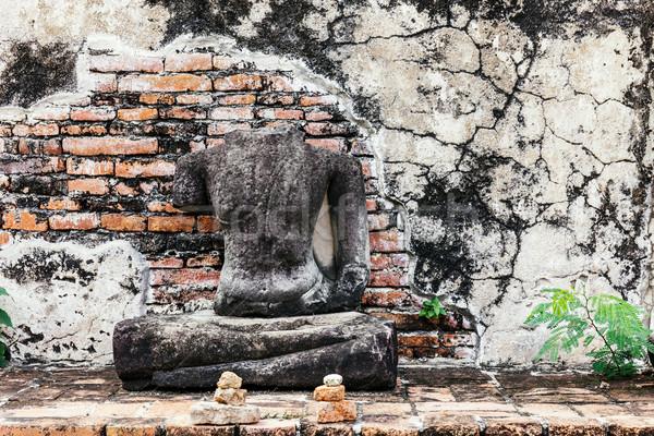 Quebrado buda Tailândia tijolo arquitetura parque Foto stock © leungchopan