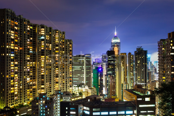 Stock photo: Hong Kong city at night