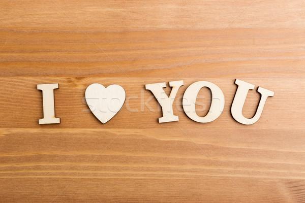 Litery wyrażenie miłości tekstury list Zdjęcia stock © leungchopan