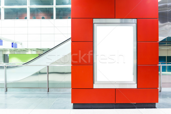 Blank billboard on modern subway background Stock photo © leungchopan