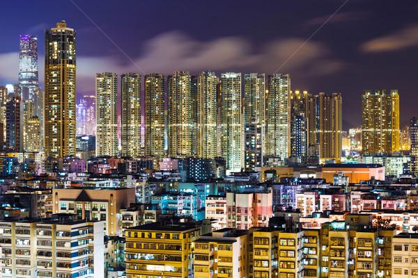 Apartment building in Kowloon Stock photo © leungchopan