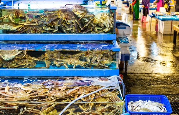 Seafood market fish tank Stock photo © leungchopan
