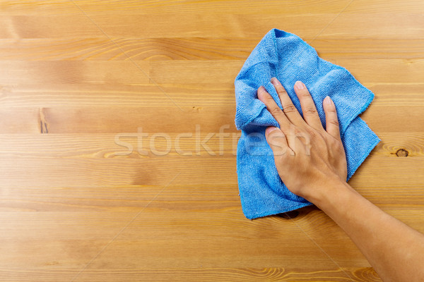 Cleaning table by hand Stock photo © leungchopan