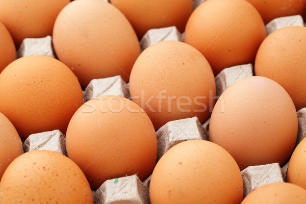 Farm egg in container Stock photo © leungchopan