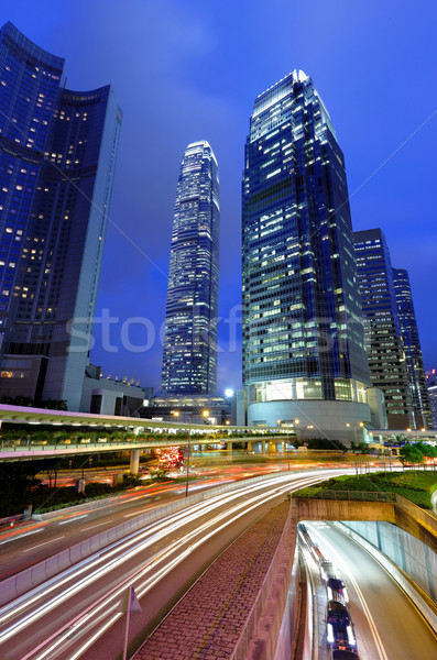 traffic in city at night Stock photo © leungchopan