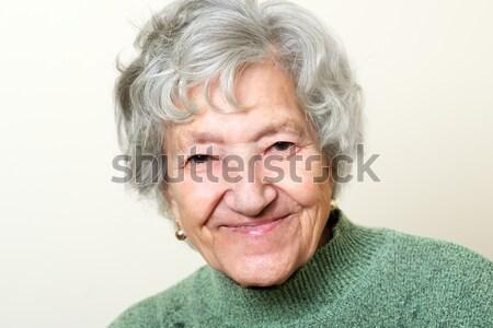Mutlu kıdemli bayan portre doğa yüz Stok fotoğraf © leventegyori