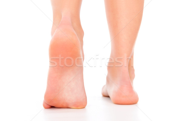 Lábápolás nő háttér láb jegyzet törődés Stock fotó © leventegyori
