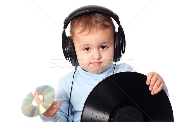 Cute baby musica telefono moda rete Foto d'archivio © leventegyori