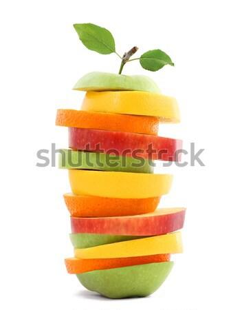 Misto fruto natureza maçã verde vermelho Foto stock © leventegyori