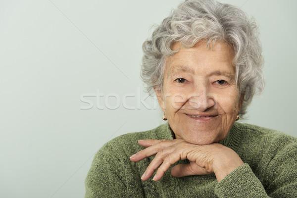 Senior senhora retrato feliz mãe feminino Foto stock © leventegyori