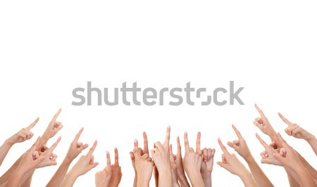 Hands showing product isolated Stock photo © leventegyori