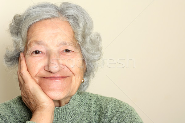 Senior lady portrait Stock photo © leventegyori