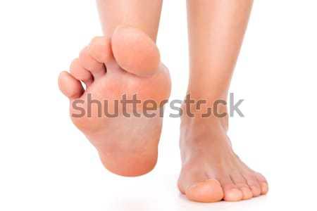 Láb izolált fehér háttér láb fájdalom Stock fotó © leventegyori