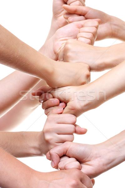 Mains haut autre main amis aider Photo stock © leventegyori