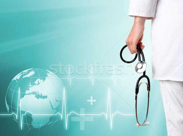 врач медицинской зеленый стороны здоровья земле Сток-фото © leventegyori