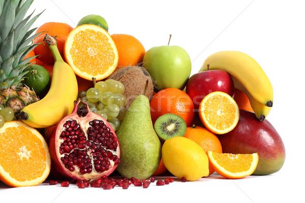 Gyümölcs csoport banán trópusi dzsúz friss Stock fotó © leventegyori