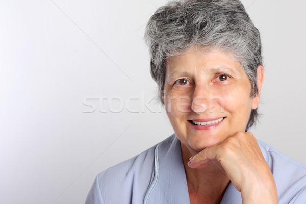 портрет улыбаясь старший женщину лице Сток-фото © leventegyori