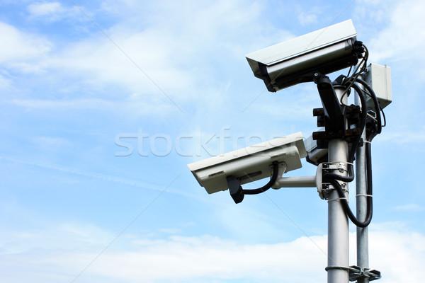 Caméra de sécurité affaires ville maison technologie sécurité Photo stock © leventegyori