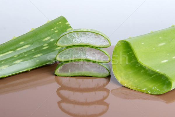 Aloe yeşil gıda yaprak damla bakım Stok fotoğraf © leventegyori