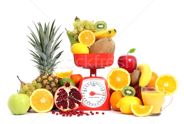 Stock photo: Fruits with scale