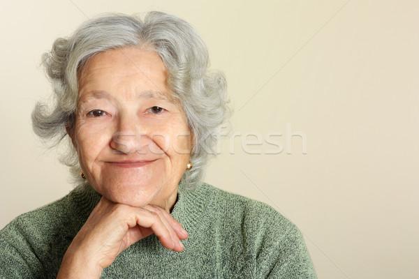 Senior portrait Stock photo © leventegyori