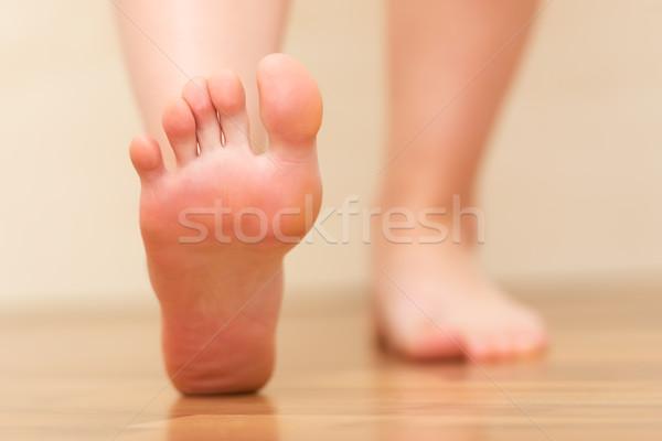 Stock fotó: Láb · közelkép · nő · láb · törődés · tő