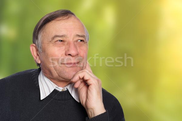 Portrait supérieurs homme extérieur heureux santé Photo stock © leventegyori