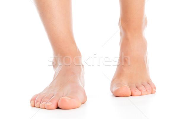 Nő lábak izolált láb háttér fehér Stock fotó © leventegyori