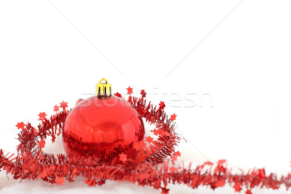 Christmas gelukkig abstract glas bal Rood Stockfoto © leventegyori