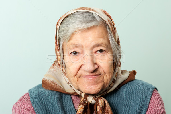 Senior lady portrait grandmother Stock photo © leventegyori
