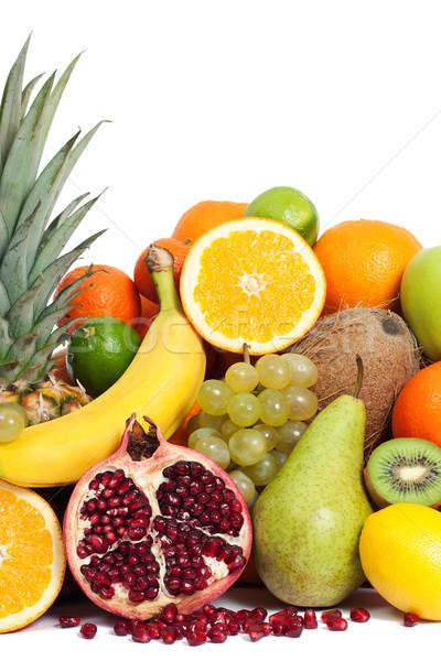 Egészséges vitamin gyümölcsök étel gyümölcs egészség Stock fotó © leventegyori