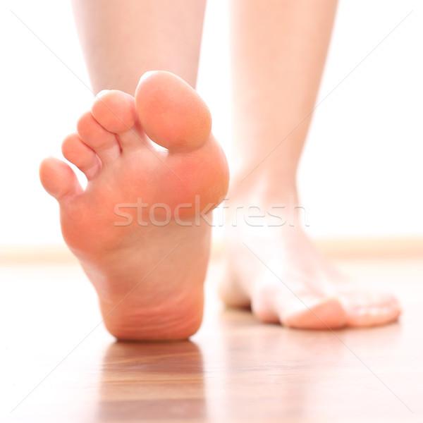 Nők láb egészség háttér fém fájdalom Stock fotó © leventegyori