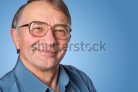 Portre kıdemli işadamı gözlük iş adam Stok fotoğraf © leventegyori