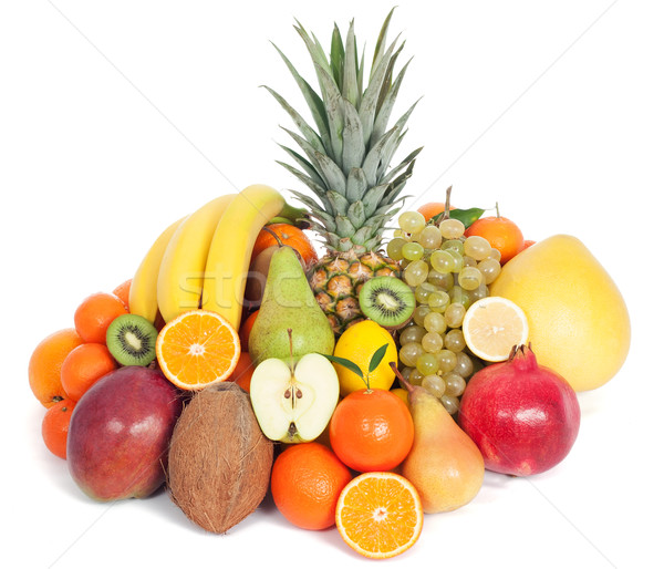 Group of healthy fruits isolated Stock photo © leventegyori