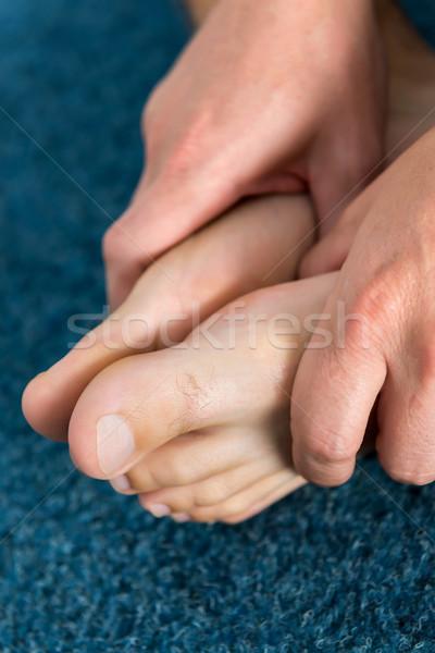 здорового мужчины ног чувство удобный домой Сток-фото © leventegyori