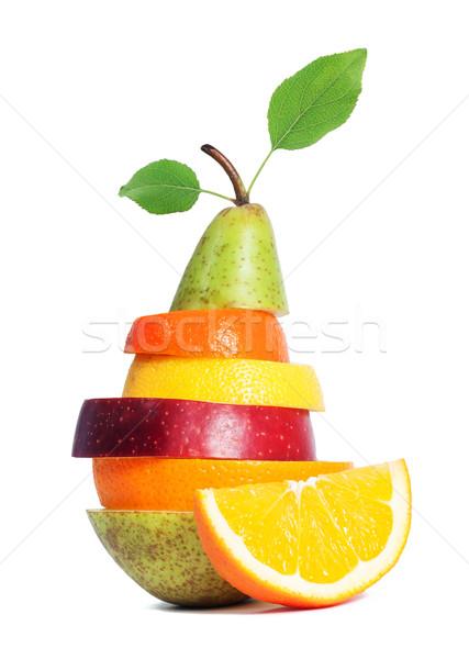 Taze karışık meyve yalıtılmış gıda elma Stok fotoğraf © leventegyori