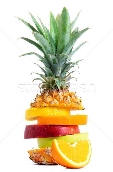 Fresh Tropical Fruit mix Stock photo © leventegyori