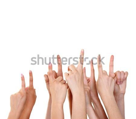 Mains produit isolé affaires main Photo stock © leventegyori