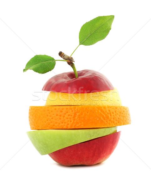 свежие смешанный фрукты яблоко оранжевый рынке Сток-фото © leventegyori