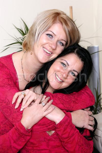 Due sorella sorridere ragazza teen Foto d'archivio © leventegyori