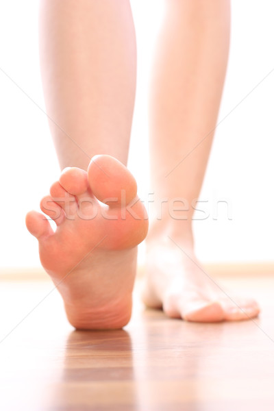 Foot stepping legs Stock photo © leventegyori