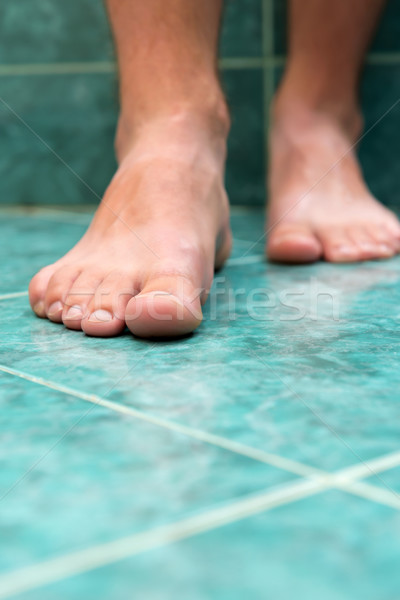 Clean male toes without any dermatological issues. Stock photo © leventegyori