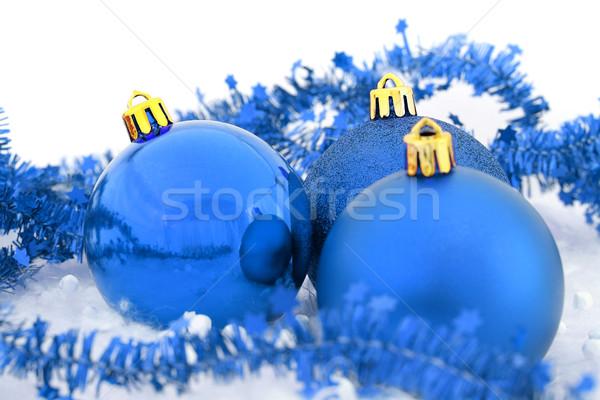 Christmas Blauw gelukkig ruimte leuk Stockfoto © leventegyori