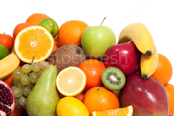 Fresh fruit in a white background Stock photo © leventegyori