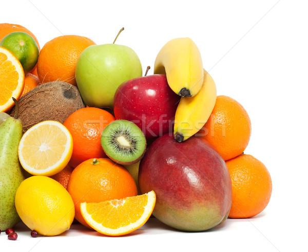 Vitamina frutas comida maçã coquetel banana Foto stock © leventegyori